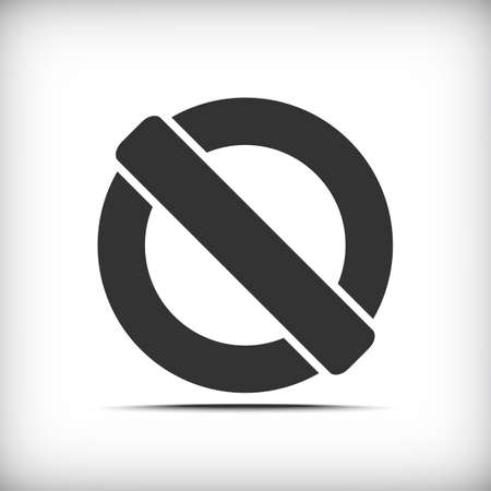 incorrect: Prohibition sign icon with soft shadow - Vector EPS10 Illustration