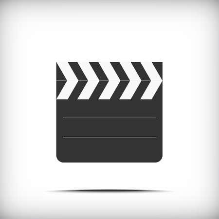 flick: Film clap board cinema icon with soft shadow - Vector EPS10
