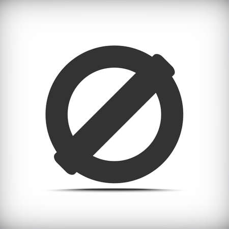 illegal zone: Prohibition sign icon with soft shadow - Vector EPS10 Illustration