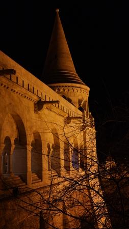 halaszbastya: Fisherman`s bastion walls with tower, Budapest Stock Photo
