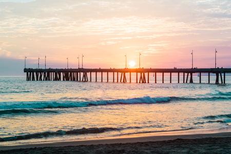 venice: Photo of Sunset at Venice Beach, California