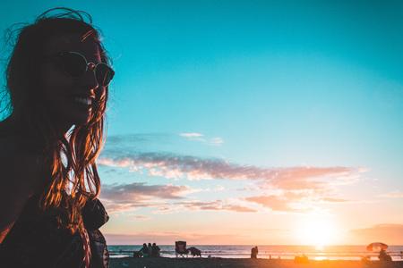 Photo of Girl at Coronado Beach, San Diego Stock Photo