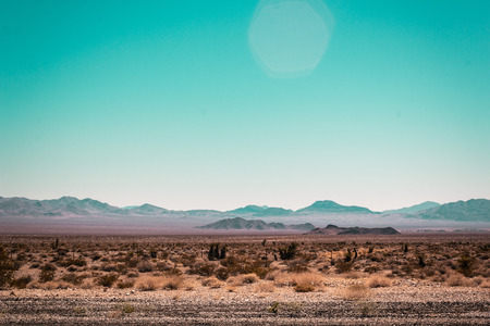 Photo of Mojave Desert near Route 66 in California Stock Photo