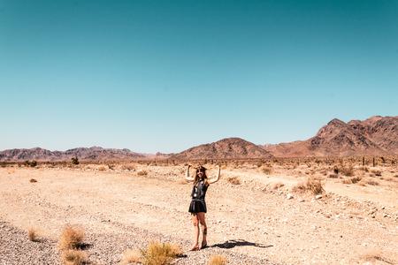 Photo of Girl at Mojave Desert near Route 66 in California