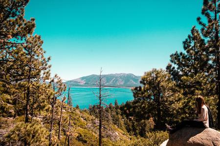 lake tahoe: Photo of Girl near Lake Tahoe, California