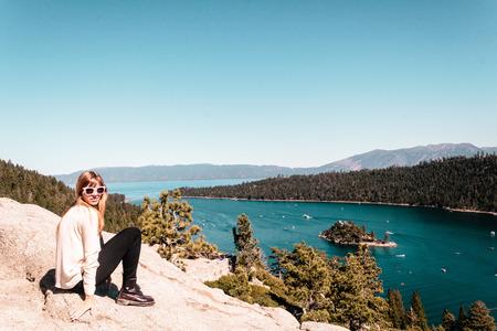 tahoe: Photo of Girl near Lake Tahoe, California