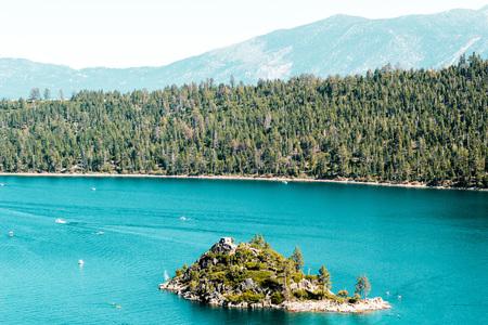south lake tahoe: Photo of Haunted Island at Emerald Bay and Lake Tahoe