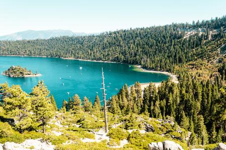 tahoe: Photo of Emerald Bay and Lake Tahoe Stock Photo