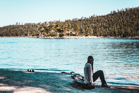 south lake tahoe: Photo of Girl near Lake Tahoe, California