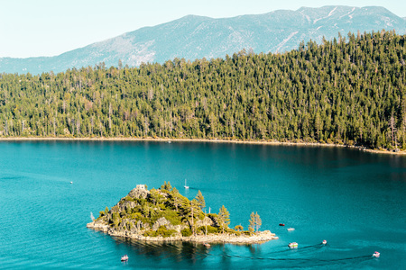 lake tahoe: Photo of Haunted Island at Emerald Bay and Lake Tahoe