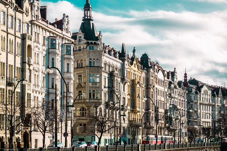 apartment tower old town: Photo of Buildings and Streets of Prague, Czech Republic