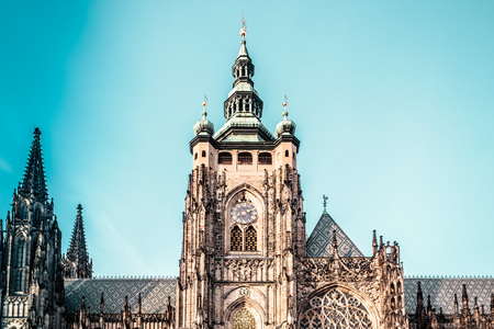 Photo of St. Vitus Cathedral at Prague, Czech Republic Editorial