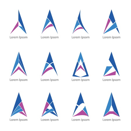 a 12: logo triangle a design 12 models