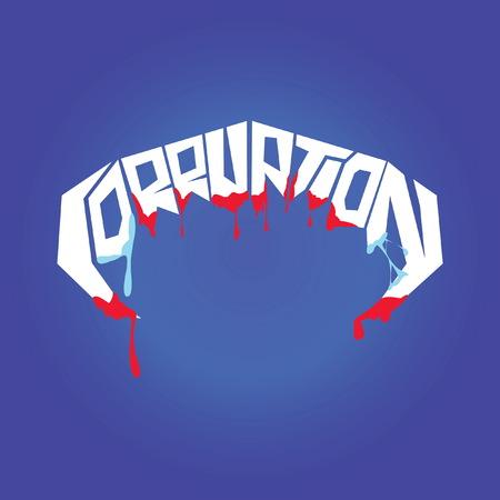 corruption: typography corruption teeth
