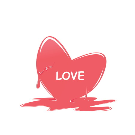 melt: heart melt valentine day Illustration