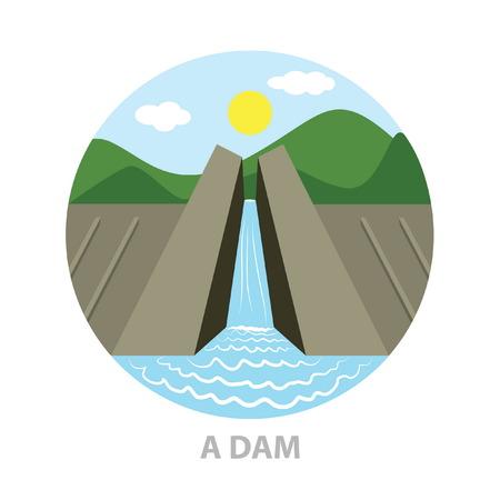 dam: a dam icon Illustration