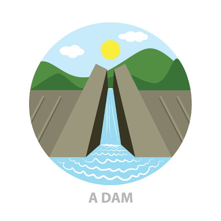 a dam icon Illustration