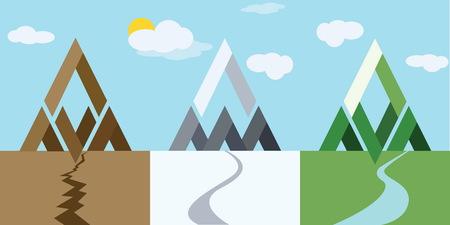 mountain 3 style icon Фото со стока - 52533486