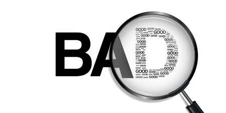 good bad: Bad have Good Searching Illustration