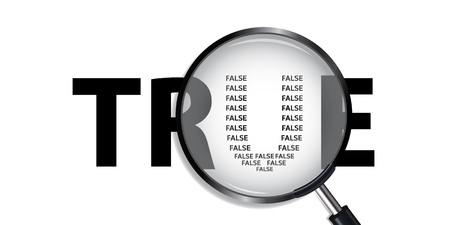 detect: True have False Detect True Searching Illustration