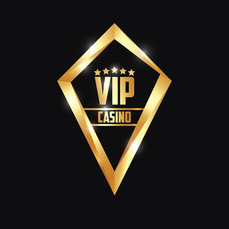 five star: Logo Diamond VIP Casino Gold Five Star Illustration