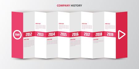 Company History Brochure Vector Illustration
