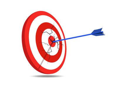 blue arrow: Target Crack Blue Arrow Illustration