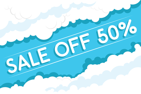 sale off: Clouds Sale Off fifty percent discount Illustration