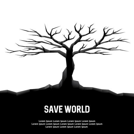 earthquake: Earthquake Tree Dry Save World Poster