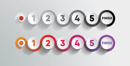 Timeline 5 Steps Colorful Finish