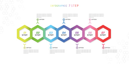 Infographic  Hexagon Colorful  7 Steps