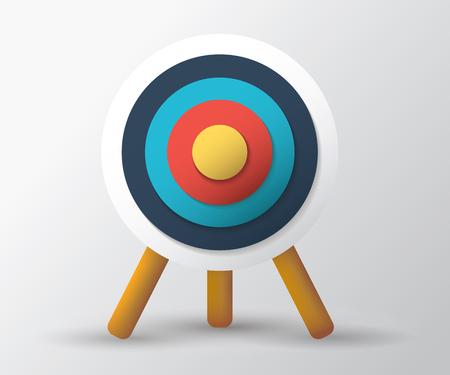 Archery target standing on a tripod Иллюстрация