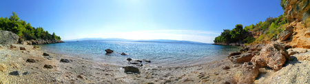 A panorama of a wonderful place in croatia. A beach on isle brac.
