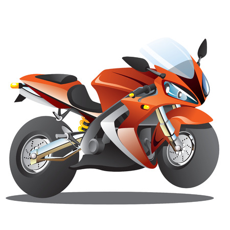 Red Superbike Cartoon