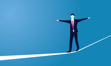 Sfida di rischio nel concetto di business. Vettoriali