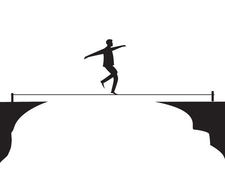 Risico uitdaging in bedrijfsconcept.