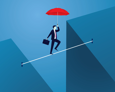 Risk challenge in business concept.