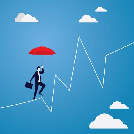 비즈니스 개념에서 위험 도전입니다.