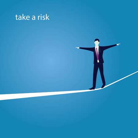 stability: Risk challenge in business concept.