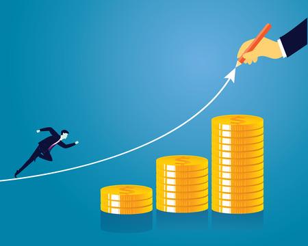Business economic financial concept Illustration