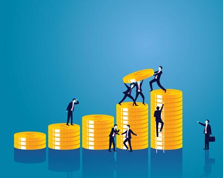 Business economic financial concept