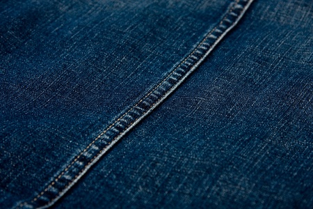 Close up shot from a blue jean.