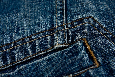 Macro shot of a blue jean jacket detail. Stock Photo - 11084120