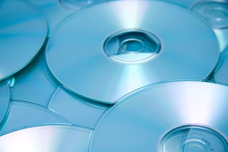 Lots of compact discs as background. Stock Photo - 11084096