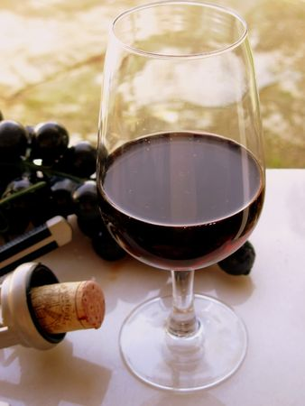 Red wine of the alentejo region, in the south of portugal.