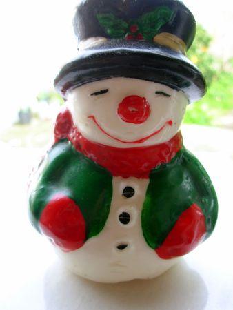 Closeup of christmas snowman on a white background Stock Photo - 653467