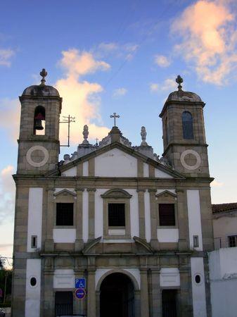 eacute: Dedicato trova la chiesa di Espirito Santo, nella citt� di andamp, eacute, Vora, Portogallo Archivio Fotografico