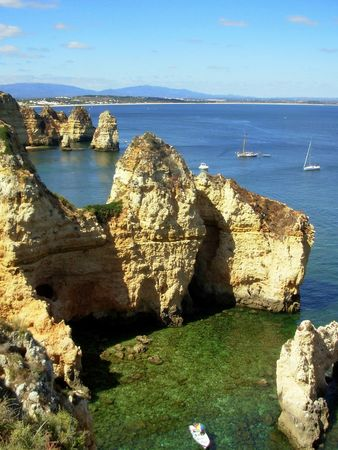 sight of the d.ana beach, lagos, portugal