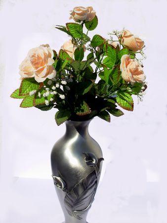ar:  ar of i tin with flowers roses