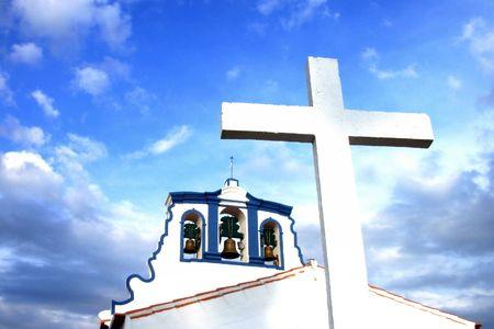 Church And Cross against the Blue Sky         �